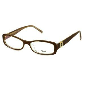 Fendi Oval Style Brown Frame